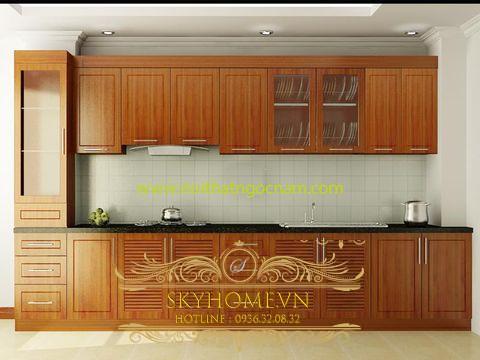 Tủ Bếp Gỗ Xoan Ta