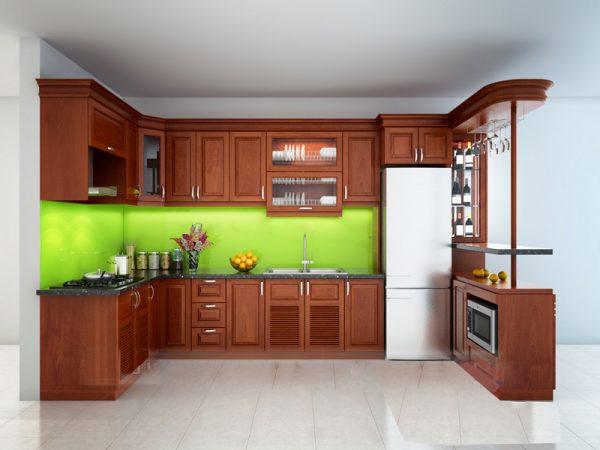Tủ Bếp Xoan đào 06