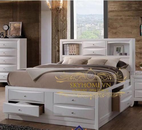 Thiết kế giường sang trọng mẫu 1