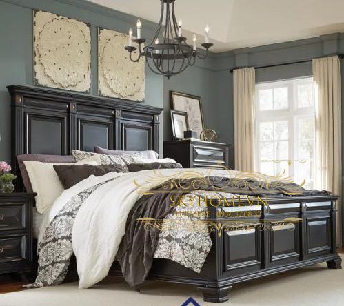 Thiết kế giường sang trọng mẫu 10
